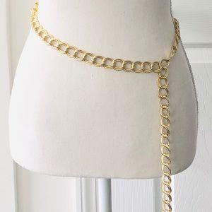 Vintage Gold Chainlink Metal Buckle Tassel End OS